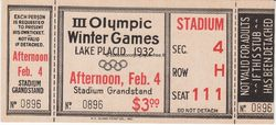 1932_lake_placid_billet_olympique_ceremonie_ouverture